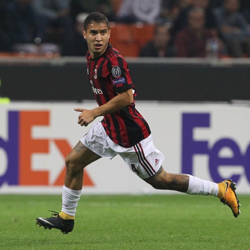 eec7f3727f80cd Maglia Jose Mauri indossata Milan-Inter - Patch Speciale