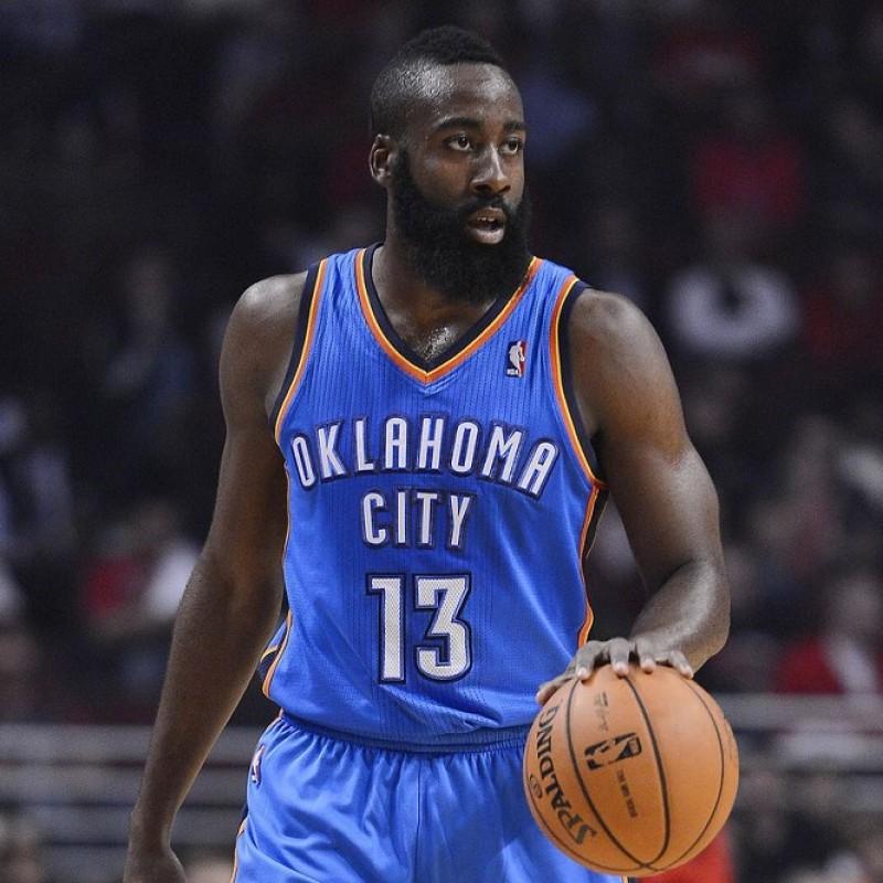 Oklahoma City Thunder Basketball - Signed by James Harden