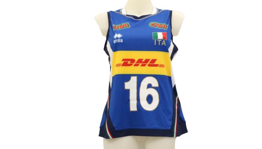 Bosetti's Italy Worn Shirt, World Volleyball Championship Final 2018