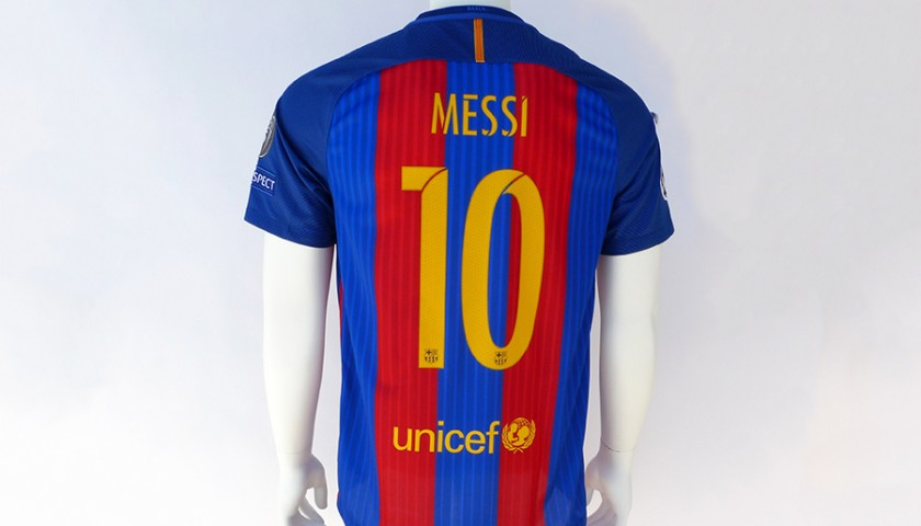 huge discount 6856a a888c Signed Lionel Messi 2016/17 Jersey - CharityStars