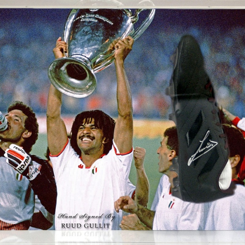 Ruud Gullit Hand-Signed Football Presentation