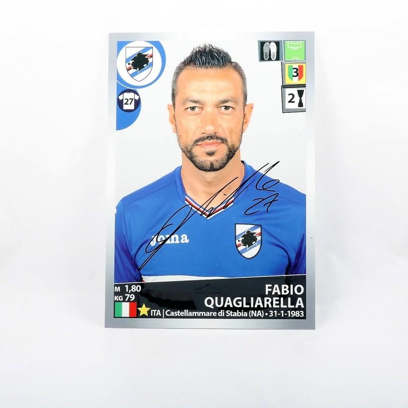 Quagliarella, Limited Edition Box and Signed Maxi Sticker