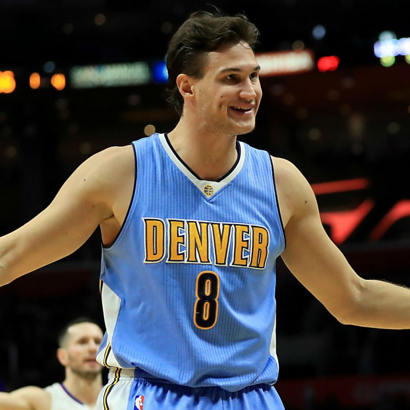 Gallinari's Denver Nuggets Worn Season 2016/17 Vest and Shorts