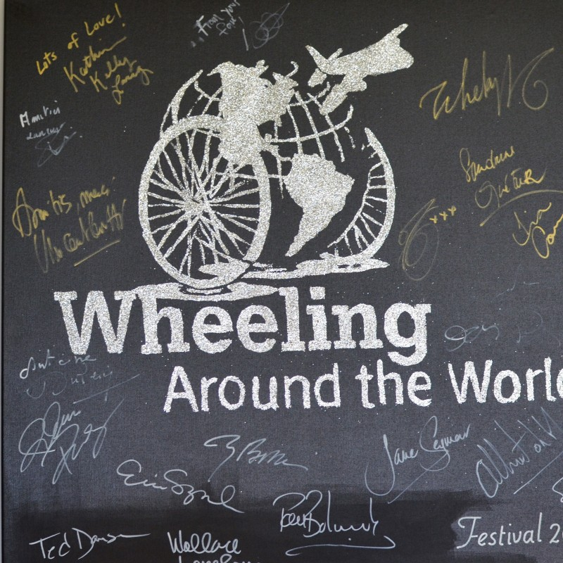 Wheeling Around the World 2014 Painting by Erik Black Painting