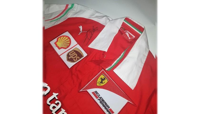 Ferrari 2016 T-Shirt - Signed by Vettel, Leclerc and Schumacher