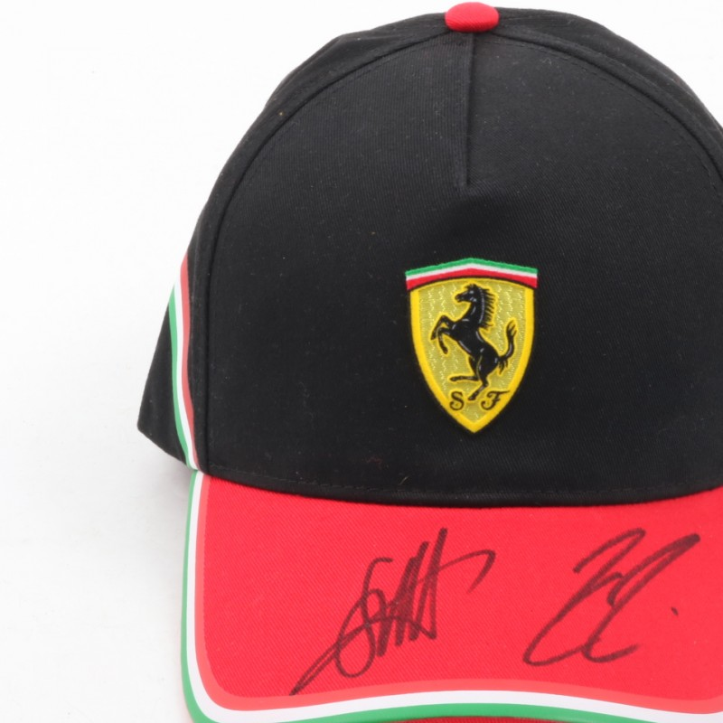 Signed Ferrari Cup by Vettel and Raikkonen
