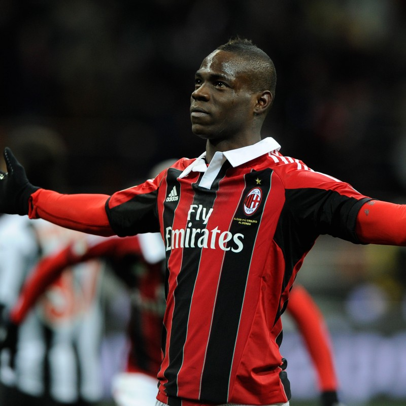 Balotelli's Match-Worn Milan Shirt, Serie A 2012/13