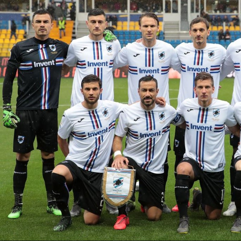 Belec's Worn Shirt, Parma-Sampdoria - #Blucrociati