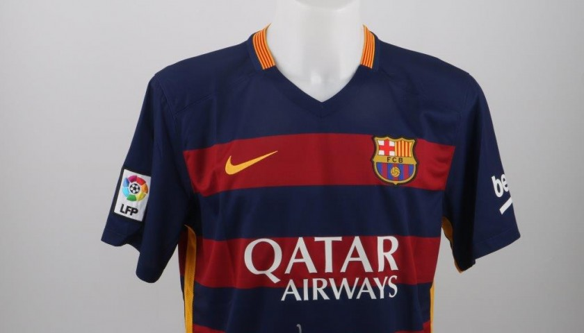 Official Messi Barcelona shirt, Liga 2015/2016 - signed