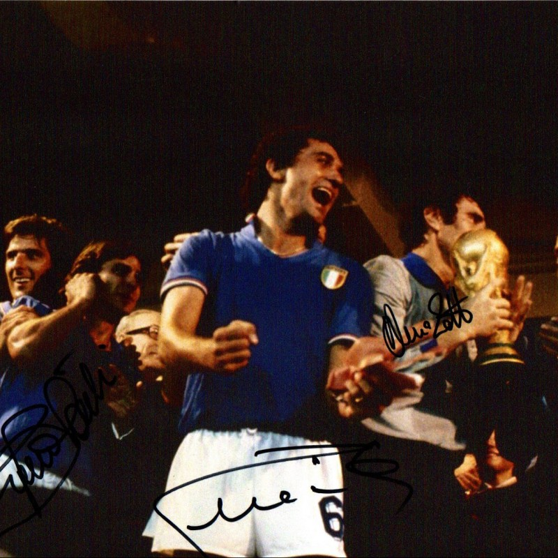 World Cup 1982 Photo Signed by Zoff, Conti and Gentile