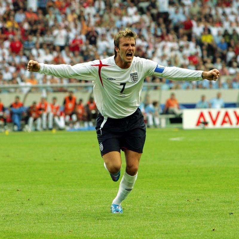 Maglia Training Inghilterra - Autografata da Beckham