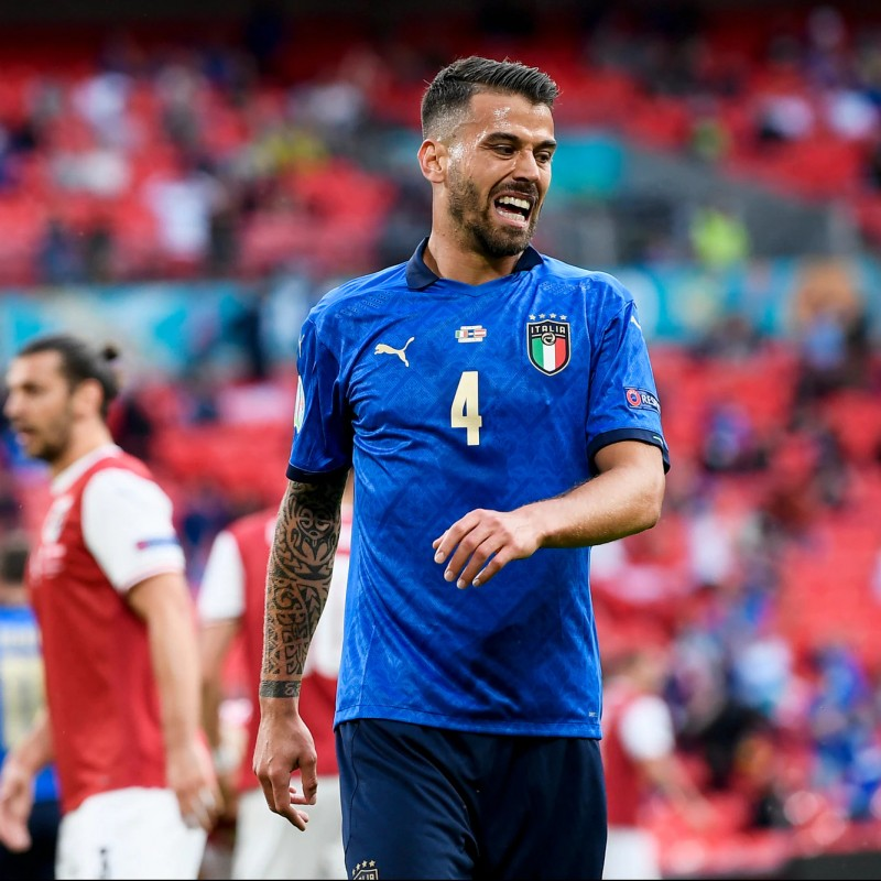 Spinazzola's Match Shirt, Italy-Austria 2021