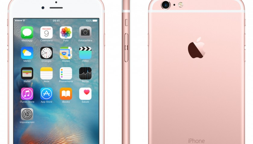 il nuovo iphone 6s 64gb color rose gold con golden number. Black Bedroom Furniture Sets. Home Design Ideas