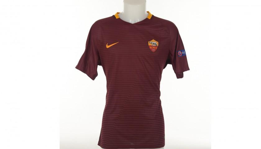 De Rossi's Match-Issued Roma-Astra Giurgiu Shirt, EL 2016/2017