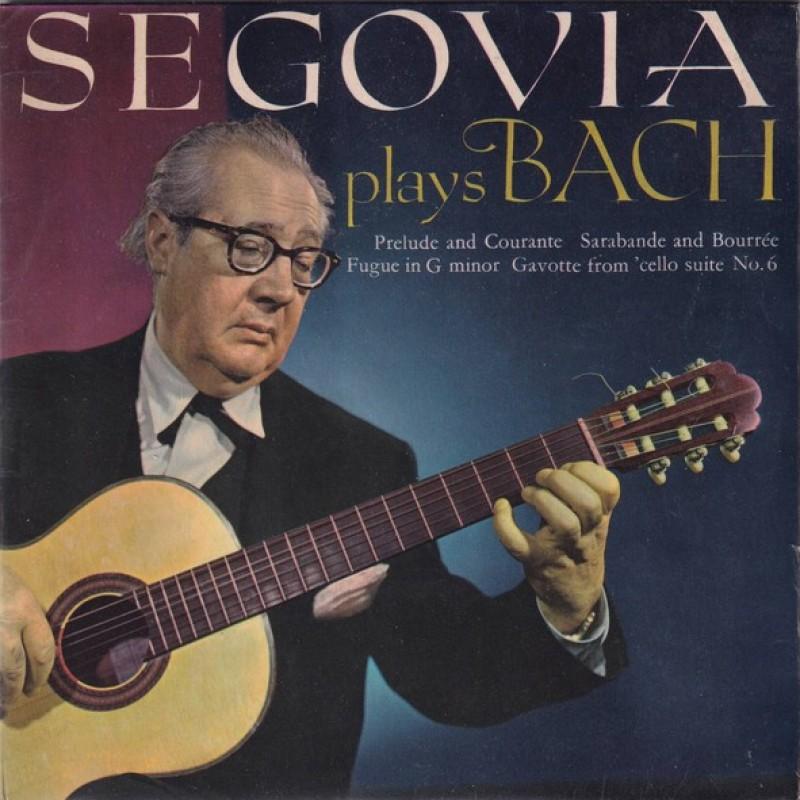 """""""Segovia plays Bach"""" Vinyl Single - Andres Segovia, 1965"""