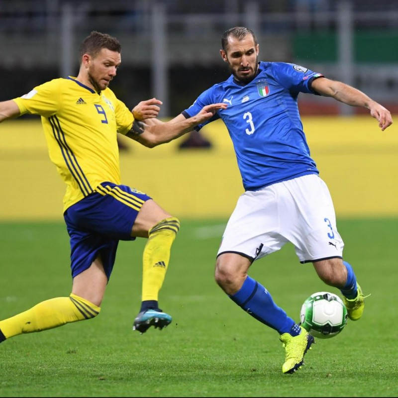 Chiellini's Match Shirt, Italy-Sweden 2017