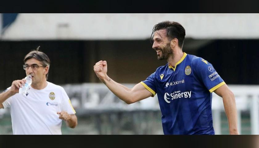 Di Carmine's Match Shirt, Verona-Lazio 2020