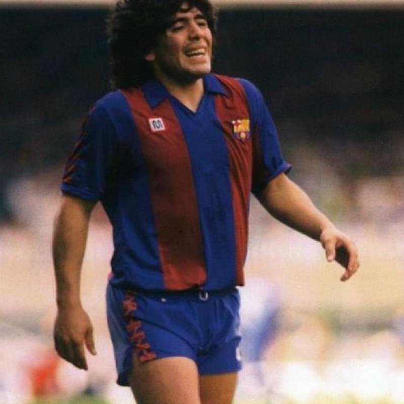 Maglia Barcellona 1982 - Autografata da Diego Maradona