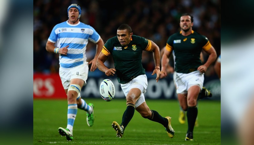 Habana's Official South Africa Signed Shirt, Rugby World Cup 2015