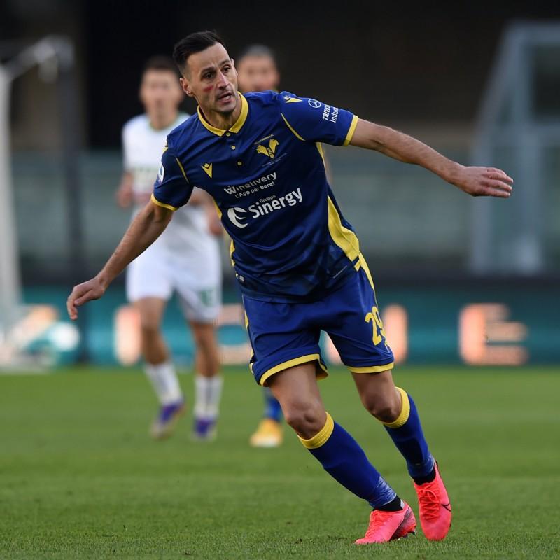 Kalinic's Official Hellas Verona Signed Kit, 2020/21