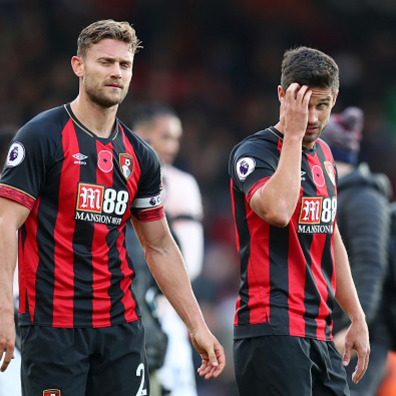 Surman's AFC Bournemouth Worn and Signed Poppy Shirt