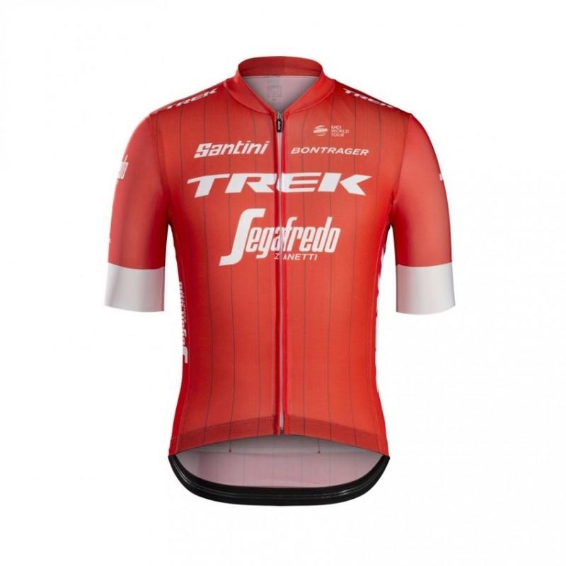 Maglia ufficiale Team Trek autografata dai ciclisti
