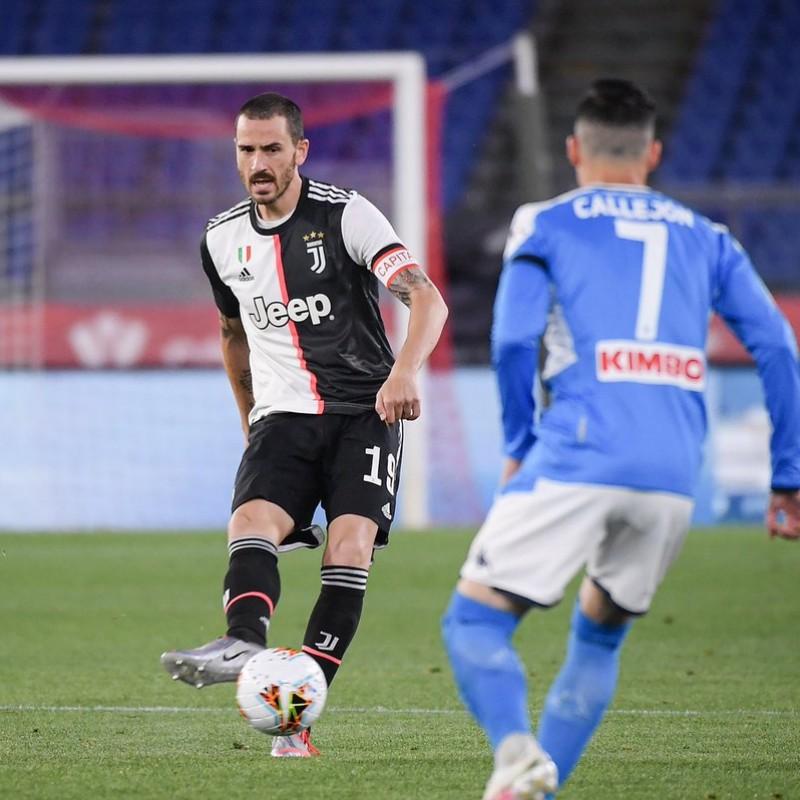Bonucci's Juventus Match Shirt, Coppa Italia Final 2020