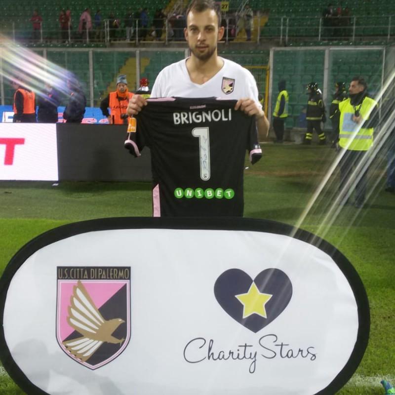 Brignoli's Worn and Signed Shirt, Palermo-Cosenza 2018