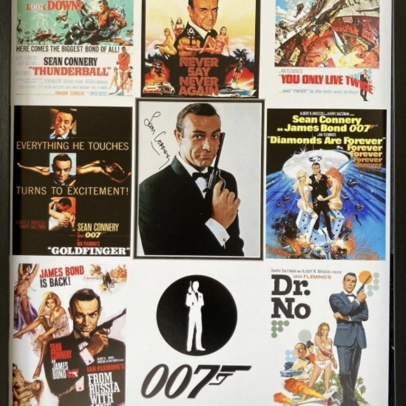 Sean Connery as James Bond, Signed Display