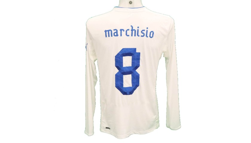 Marchisio's Italy Match-Issue Shirt, 2012/13 Season