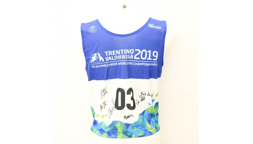 VIP Access to FIS Alpine Junior World Ski Championships Val di Fassa 2019 plus Ski Bib Signed by FISI Champions
