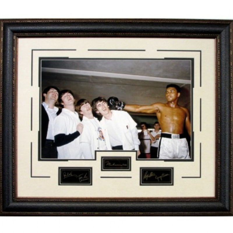 The Beatles with Muhammad Ali Vintage Photograph