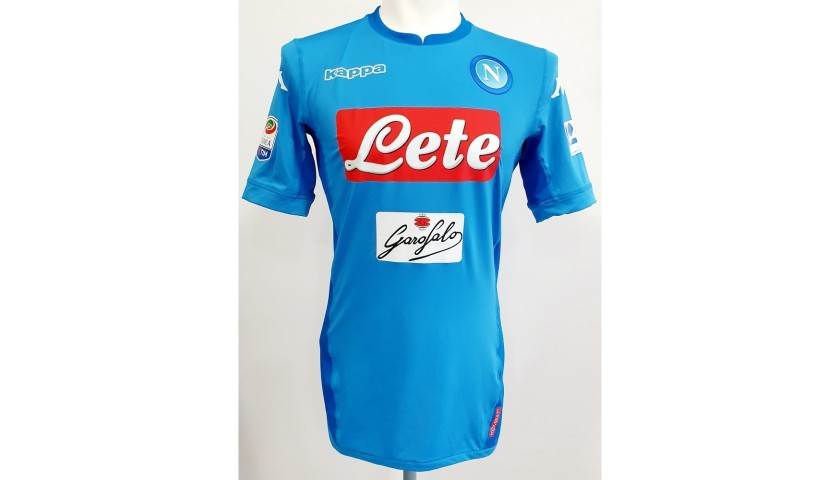 Hamsik's Match Issued Signed Shirt, Napoli-Torino 2018