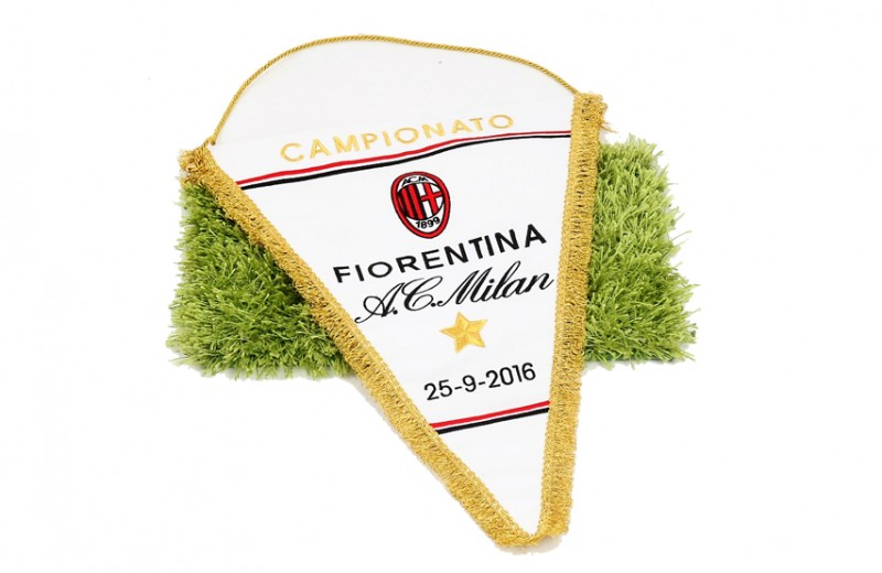 Official Serie A 2016/17 Season Pennant of the Fiorentina-Milan Match
