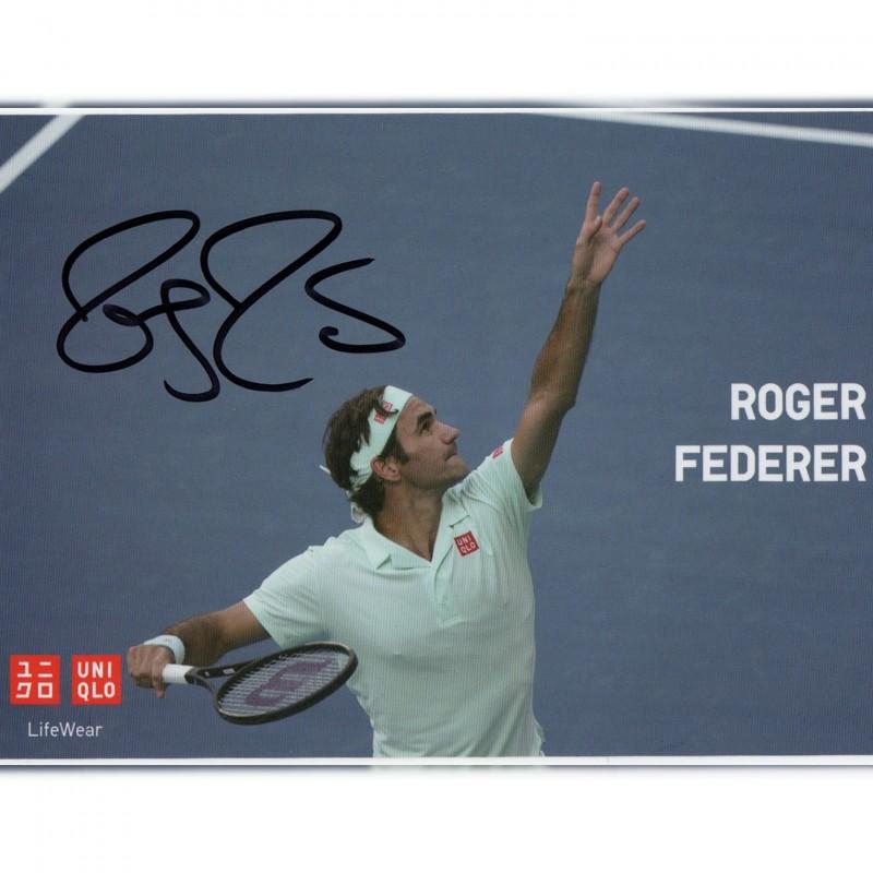 Official Postcard Signed by Roger Federer