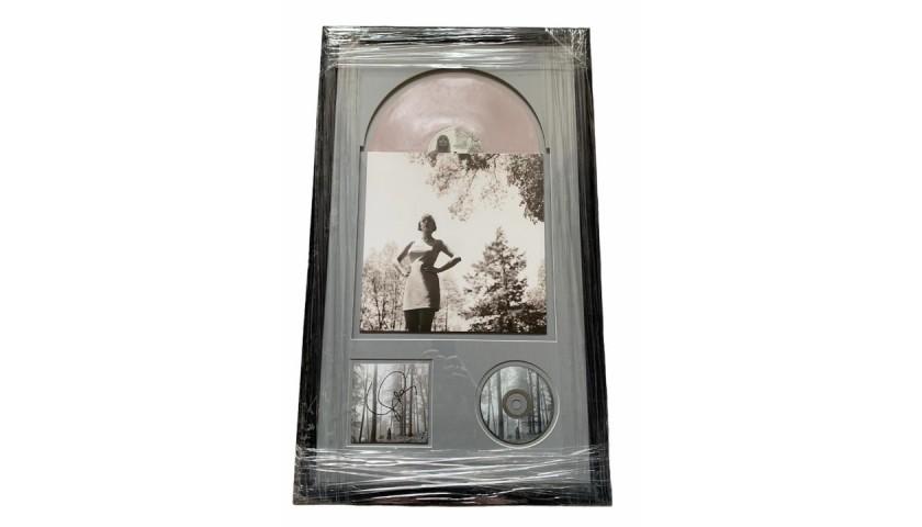 Taylor Swift Signed Framed Folklore Display