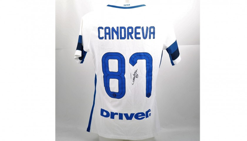 Candreva's Match-Issued and Signed Inter Shirt, Serie A 2016/17