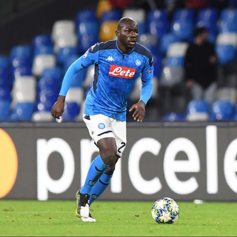 Koulibaly's Napoli Match Worn and Signed Shirt, UCL 2019/20