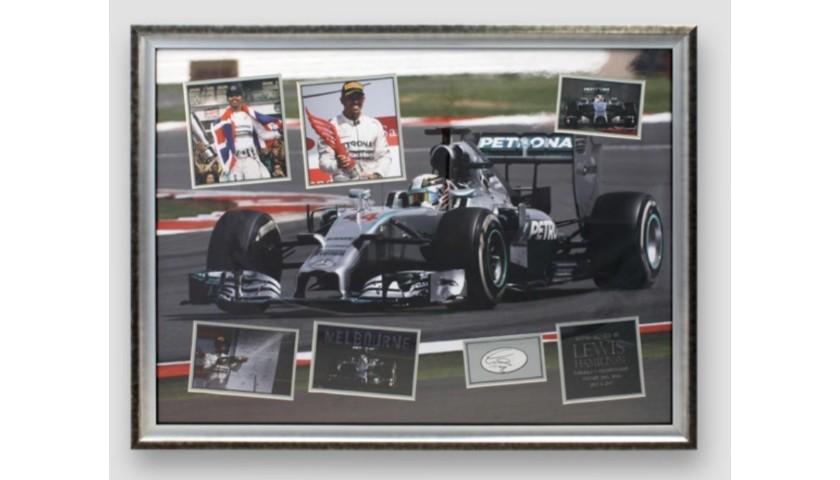 Lewis Hamilton Signed Framed Display