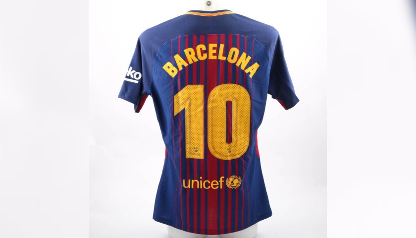 "Leo Messi's Match-Issue""Tots Som Barcelona"" Shirt"