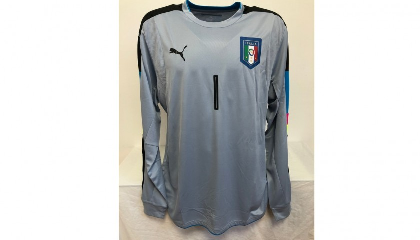 Buffon's Italy Signed Match Shirt, 2016/17