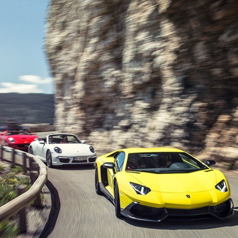 Glamorous Supercar Rally from London to Croatia for 2 with Supercar hire