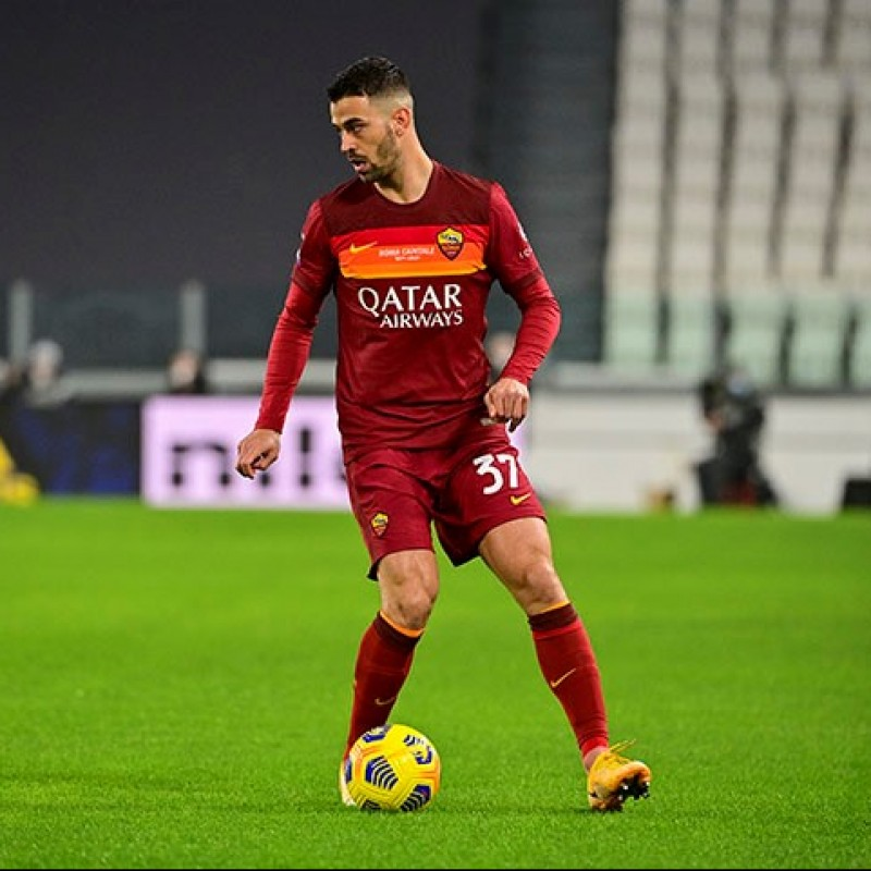 "Spinazzola's Worn Shirt, Juventus-Roma 2020/21 - ""Roma Capitale"" 150th Anniversary"