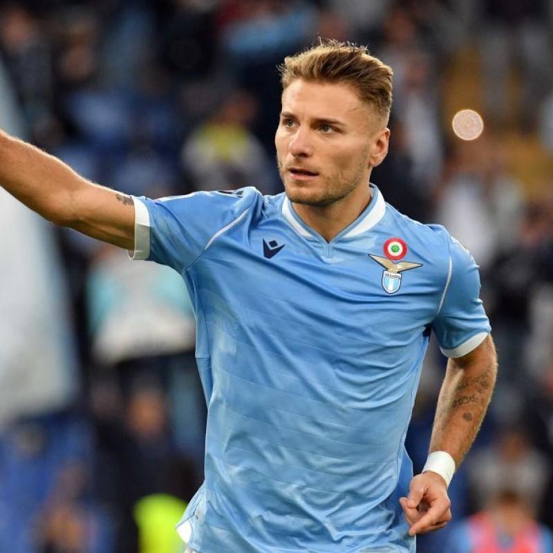 Immobile's Worn and Signed Shirt, Lazio-Lecce 2019