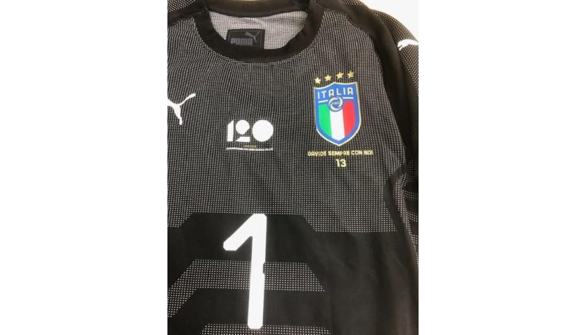 Buffon's Match Shirt, England-Italy 2018 - Special Patch