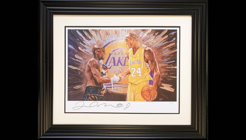Limited Edition Print for Kobe Bryant Hand Signed By Floyd Mayweather