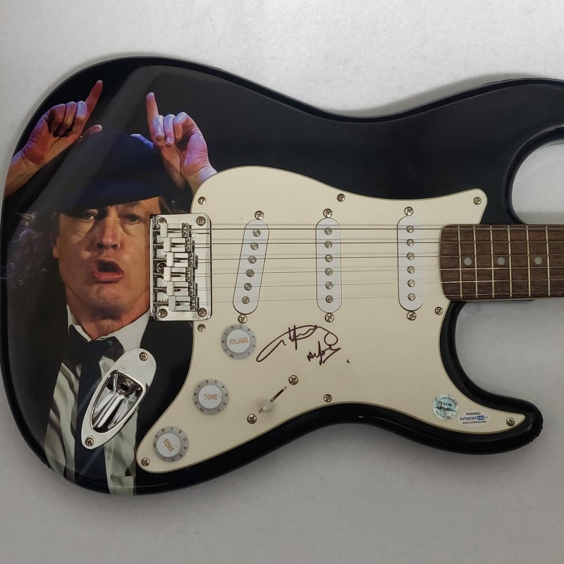 AC/DC's Angus Young Autographed Fender Guitar
