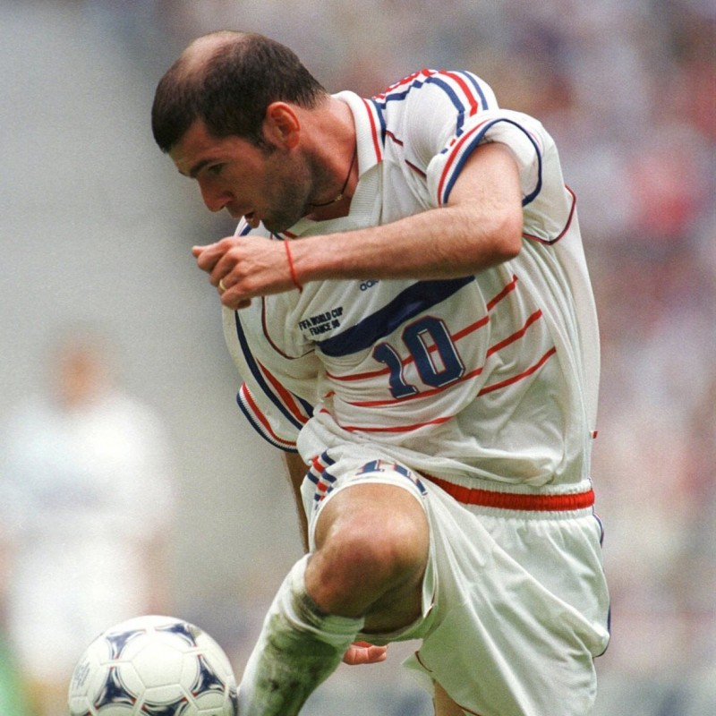 Zidane's France Signed Match Shirt, France 1998 Pre-World Cup