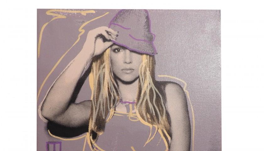 """""""Britney Spears (Purple)"""" by Steve Kaufman"""