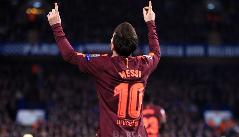 9d7b906b8 Messi s Barcelona Match-Issue Shirt